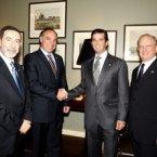 Embaixador Osmar Chohfi, Ricardo Bellino e Donald Trump Jr.